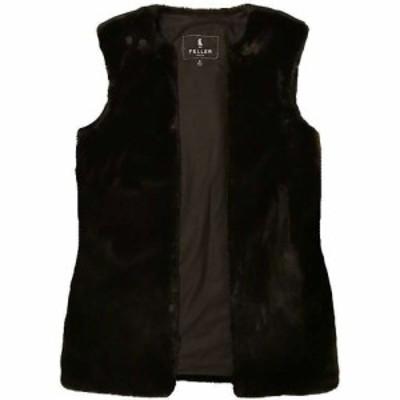 フェイラー Feller レディース ベスト・ジレ トップス Fitted Faux Fur Vest Liner Black