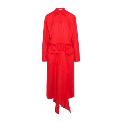 TOME 7分丈ワンピース・ドレス レッド XS コットン 100% 7分丈ワンピース・ドレス