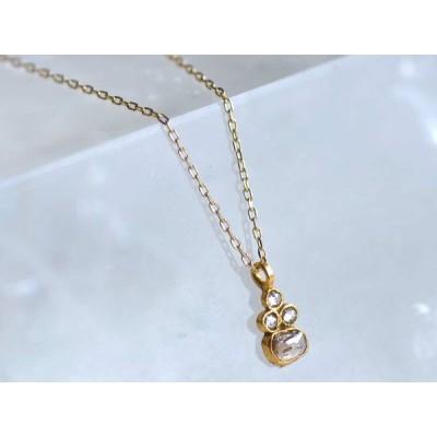 18金 K18 ブラウンダイヤ ペンダント ネックレス