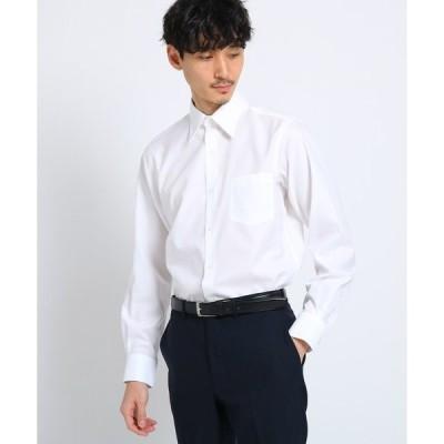 シャツ ブラウス マイクロドットブロードシャツ[ メンズ トップス シャツ ビジネス 結婚式 ノンアイロン ]