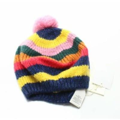 ファッション 帽子 BODEN Pink Metallic Colorblock Knit Pompom Womens Size Small S Beanie 999