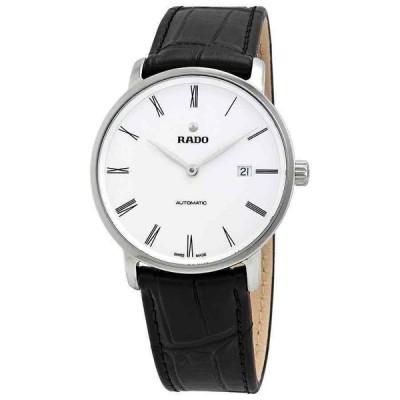 ラド— 腕時計 Rado DiaMaster Thinline Automatic White ホワイト Dial メンズ Watch R14067036