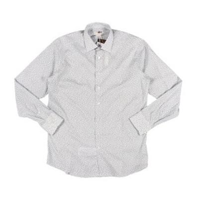 ETRO(エトロ) 長袖シャツ 12908 ホワイト x ネイビー 43 25065 【A25066】