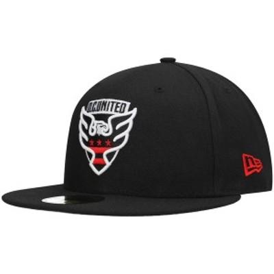 ニューエラ メンズ 帽子 アクセサリー D.C. United New Era Tag Turn 59FIFTY Fitted Hat Black