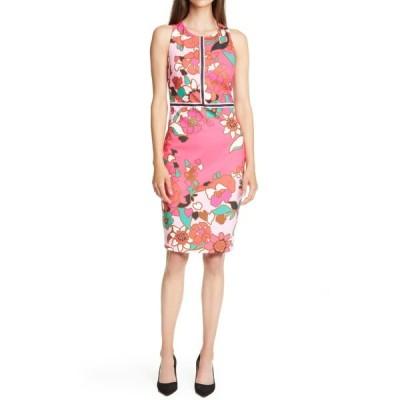 テッドベーカー レディース ワンピース トップス Marloww Piata Floral Sheath Dress PINK