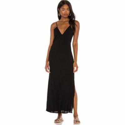 インダー Indah レディース ワンピース Vネック マキシ丈 ワンピース・ドレス Danielle Solid Simple V Neck Bias Maxi Dress Black