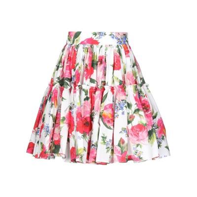 ドルチェ & ガッバーナ DOLCE & GABBANA ミディスカート ピンク 42 コットン 100% ミディスカート