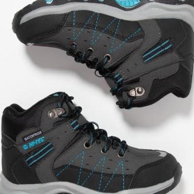 ハイテック キッズ 靴 シューズ SHIELD WP - Hiking shoes - dark grey/black/lake blue