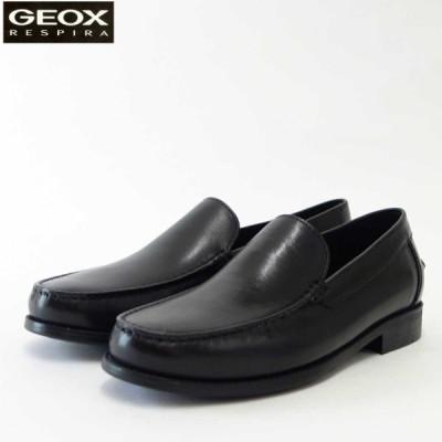 ジェオックス GEOX  U 641ZA ブラック(メンズ) 上質レザーのローファー