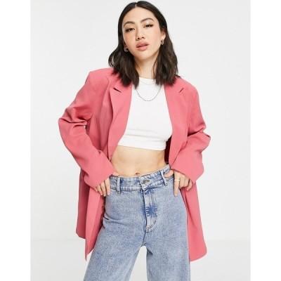 ハートブレイク レディース ジャケット&ブルゾン アウター Heartbreak longline blazer in dark pink - part of a set Dark pink