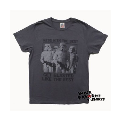 Tシャツ ジャンクフード Star Wars Stormtrooper Get Blasted Junk Food Adult Grey T Shirt