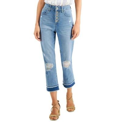 アイエヌシーインターナショナルコンセプト レディース デニムパンツ ボトムス INC Delancey Straight-Leg Cropped Jeans