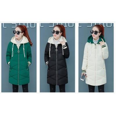 冬物 3色選択可 秋冬 オシャレ 品質がいい ダウンコート 軽量 中綿 厚手 保温 防寒フード ロングコート レディース ダウンジャケット レディース  着痩せ