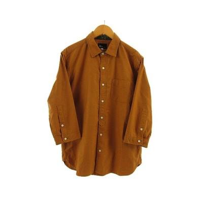 【中古】ティーケーミクスパイス タケオキクチ THE SHOP TK MIXPICE シャツ 七分袖 ブラウン 茶 M メンズ 【ベクトル 古着】