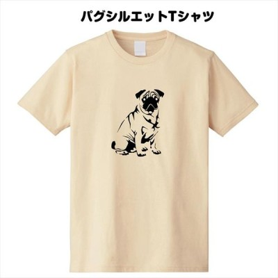 パグシルエットTシャツ