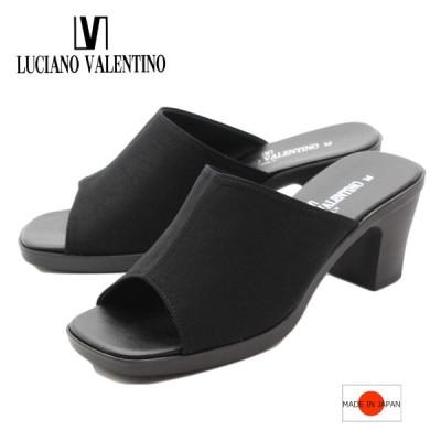LUCIANO VALENTINO ルチアーノバレンチノ サンダル オフィスサンダル ミュール レディース 靴 黒 ブラック im3900