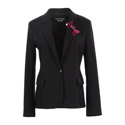 BOUTIQUE MOSCHINO テーラードジャケット ブラック 40 バージンウール 98% / 指定外繊維 2% テーラードジャケット