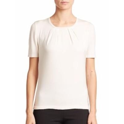 キャロライナヘレラ レディース トップス シャツ Day Collection Pintuck Cashmere/Silk Top
