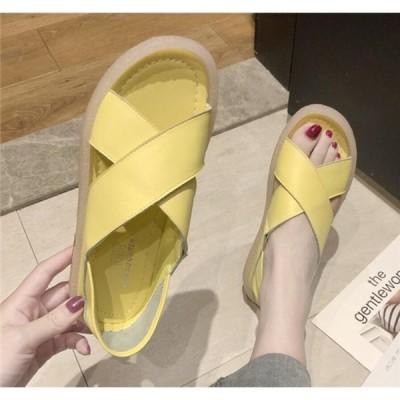 サンダル レディース シューズ 夏 気持ちいい 柔らかい 痛くない 靴 女性 美脚 おしゃれ アウター 部屋着 歩きやすい 20代 30代 40代