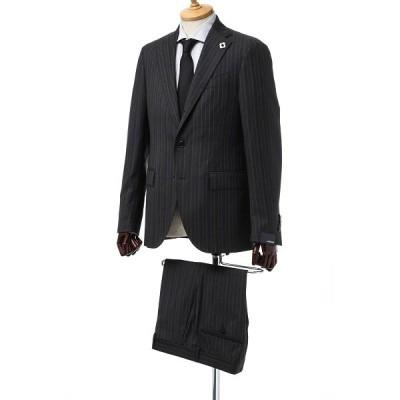 ラルディーニ LARDINI スーツ シングル サイドベンツ ノッチドラペル 3つボタン 2ピース ST IM0409AV 3 メンズ M0409AV AJ29413 ダークグレー