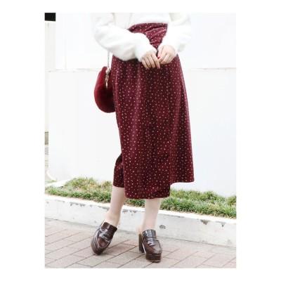 dazzlin 【sw】ベロアプリントスカート(ボルドー)