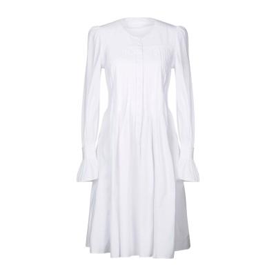 CO ミニワンピース&ドレス ホワイト XS 100% コットン ミニワンピース&ドレス