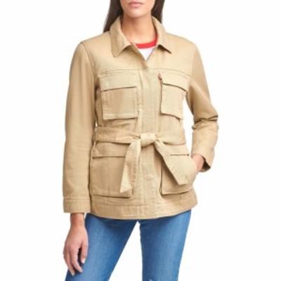 リーバイス LEVIS レディース ジャケット デニムジャケット サファリジャケット アウター Safari Denim Jacket Khaki