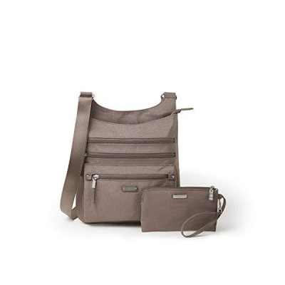Baggallini Women's New Classic Around Town Bagg with RFID Phone Wristlet, Portobello Shimmer, One Size【並行輸入品】