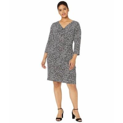 ラルフローレン ワンピース トップス レディース Plus Size Floral Jersey Dress Black/Cannes Blue/Colonial Cream