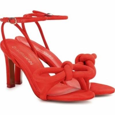 ジマーマン Zimmermann レディース サンダル・ミュール シューズ・靴 sculptural bow suede sandals Crimson
