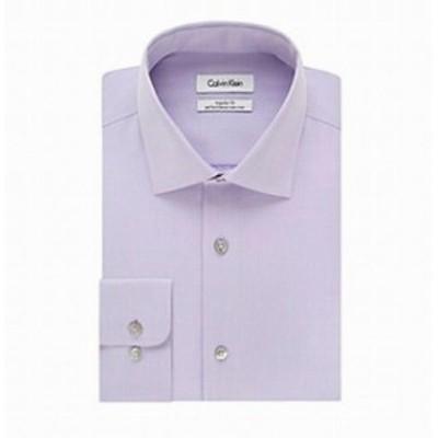 Calvin Klein カルバンクライン ファッション ドレス Calvin Klein NEW Purple Mens 16 1/2 Regualr Fit Performance Dress Shirt