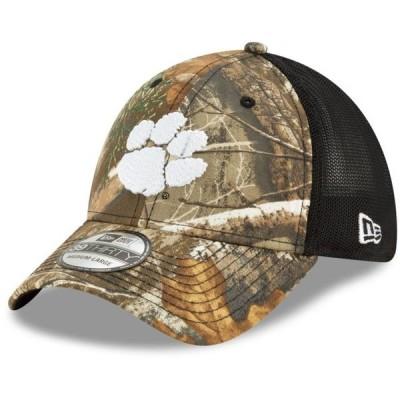 ユニセックス スポーツリーグ アメリカ大学スポーツ Clemson Tigers New Era Team Mesh 39THIRTY Flex Hat - Realtree Camo/Black