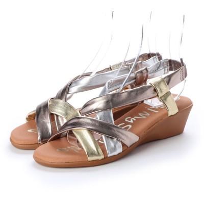 オー マイ サンダルズ Oh my Sandals クッションインソールソフトレザーサンダル (ゴールドコンビ)
