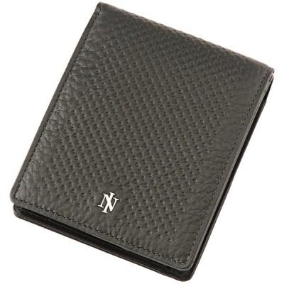 【ノイインテレッセ】二つ折り財布(小銭入れ付き札入)■アットリート 3121 (ブラック×ブラック)