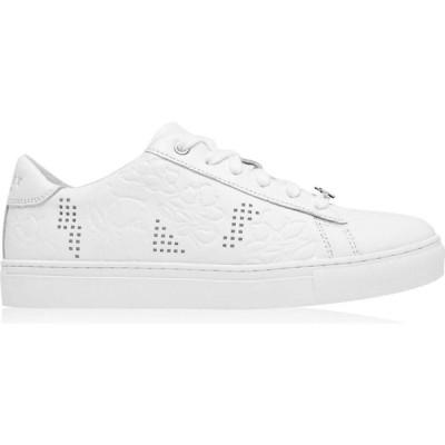 ラドリー Radley レディース スニーカー シューズ・靴 Floral Embossed Trainers White