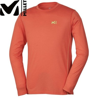 MILLET ミレー KUHTAI WOOL CREW LS 2019SS アウトドア メンズ Tシャツ ロングスリーブ (ORANGE):MIV01667
