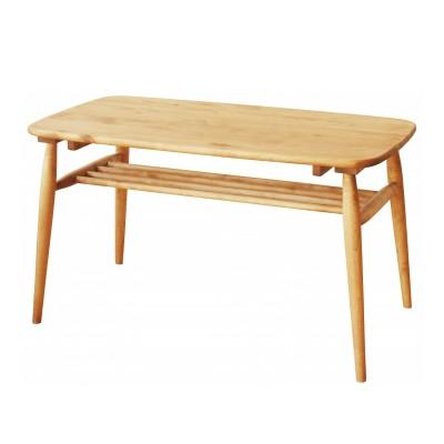 【大型商品送料無料】バーチ材の棚付きハイタイプリビングテーブル(and g)