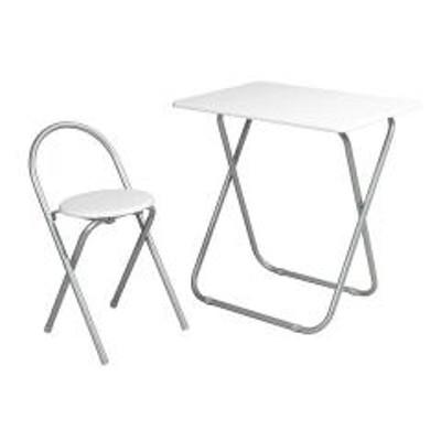 フォールディングテーブルセット ホワイト( 机 椅子 イス 折りたたみ  )