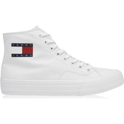 トミー ジーンズ Tommy Jeans メンズ スニーカー ハイカット シューズ・靴 High-Top Trainers White