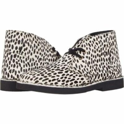 クラークス Clarks レディース ブーツ シューズ・靴 Desert Boot 2 Black/White Leather