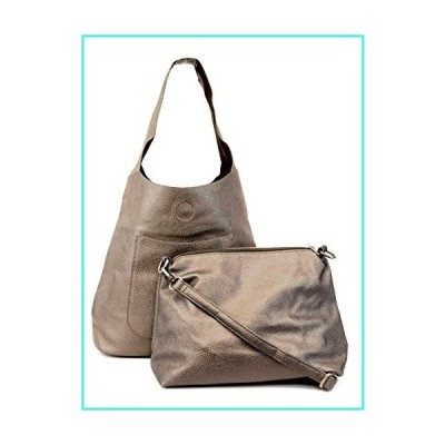 【新品】Joy Susan Women's Molly Slouchy 2-in-1 Hobo Handbag, Pewter, One-Size(並行輸入品)