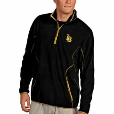 Antigua アンティグア スポーツ用品  Antigua Long Beach State 49ers Black Ice Quarter-Zip Jacket