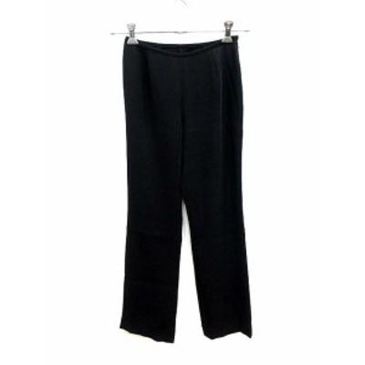 【中古】ブティックニコル boutique NICOLE パンツ スラックス テーパード 38 黒 ブラック /KB レディース