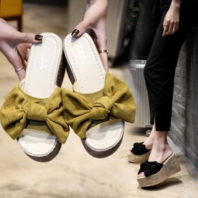 サンダル ビーサン 厚底 ミュール レディース スリッパ ウエッジソール ビーチサンダル 女性 プラットフォーム 歩きやすい 美脚 シューズ 靴