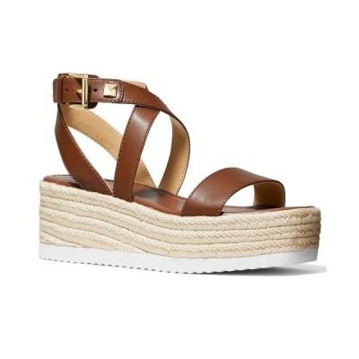 マイケルコース サンダル シューズ レディース Women's Lowry Strappy Espadrille Wedge Sandals Luggage