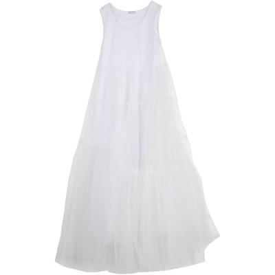 パロッシュ P.A.R.O.S.H. ロングワンピース&ドレス ホワイト XS ナイロン 100% / コットン ロングワンピース&ドレス