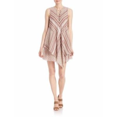 デレクラムテンクロスビー レディース ワンピース Lace-Up Layered Silk Dress