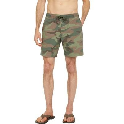 クイックシルバー Quiksilver メンズ ショートパンツ ボトムス・パンツ Taxer Walkshorts Camo Thyme