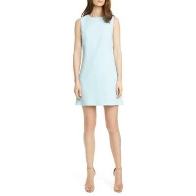 アリス アンド オリビア レディース ワンピース トップス Coley Crepe A-Line Dress PWDR BLUE