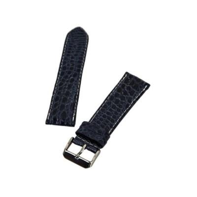 腕時計バンド 海外セレクション I.W. Suisse Blue 24 mm Wide Genuine Crocodile Leather Band